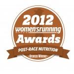 Bronze award Women's Running